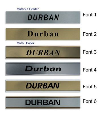 Durban Clock Name Plate |World Time Zone City Wall clocks Sign custom Plaque